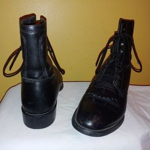 ARIAT 32501 BLACK LEATHER MENS LACE UP BOOTS 8 D